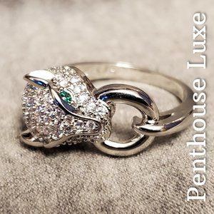 Luxury Jewel Encrusted Panther Ring